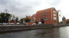 Passeio no rio Brahe, em Bydgoszcz, na Polônia.