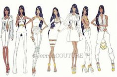fashion design illustration white dress jerron couture urban fashion