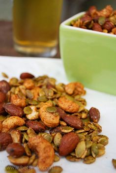 Sweet and Spicy Chipotle Snack Mix. A great healthy alternative to regular football snacks!