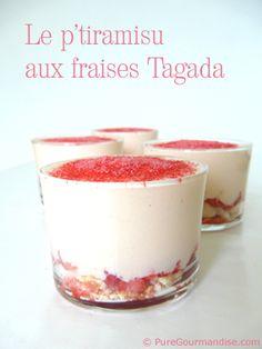 Tiramisu au fraises Tagada   by puregourmandise.com