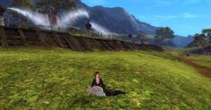 My Mesmer found a bunny out in Queensdale...so of course I had to sit with it, just like I always did in the first Guild Wars.