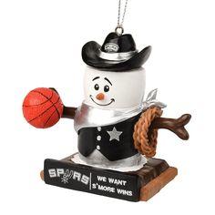 Forever Collectibles San Antonio Spurs S'more Snowman Christmas Ornament, Multicolor