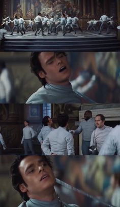 Prince Kit loses in a fencing match while thinking about Cinderella