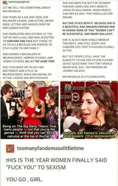 mayim bialik- 'scuse the language but this is too cool not to pin