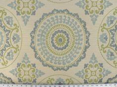 Woven Suzani Fabric Emblem Design Fabric by EnglesideManor on Etsy, $44.96