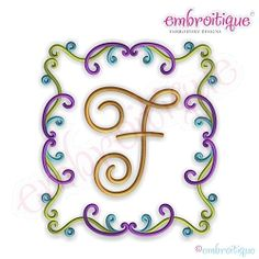 Frost Curly Font Frame - 10 Sizes! | What's New | Machine Embroidery Designs | SWAKembroidery.com Embroitique