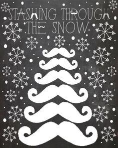 Staching through the snow Printable