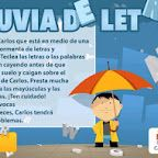Lluvia de letras - perfect game for Spanish speakers to practice keyboarding skills