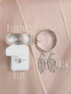 Something old, something new, something borrowed & something blue.  www.hallahmikaelaharmon.blogspot.com