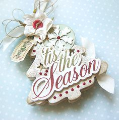 Christmas Tree - card - Scrapbook.com - This is stunning. #scrapbooking #cardmaking #holiday #mayaroad #rangerink #