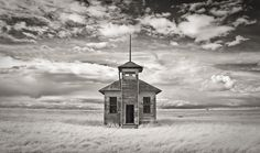 Prairie Relic    Burnham One-Room School  Located Near The Town of Havre  Hill County, Montana