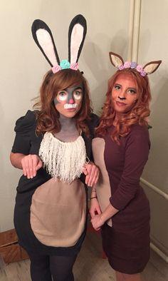 DIY Kostüm Bambi und Klopfer