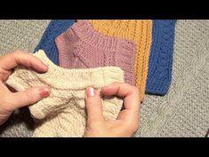 Как обработать край изделия полым шнуром - тройная кромочная петля - YouTube