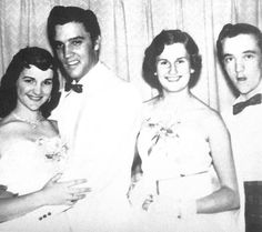 Elvis attends Dixie Locke's Jr. Prom with Bessie Wolverton and Gene Smith May 6, 1955