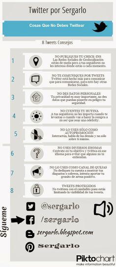 [Infografía] Cosas que no debes Twittear