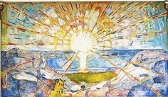 Edvard Munch The Sun painting is shipped worldwide,including stretched canvas and framed art.This Edvard Munch The Sun painting is available at custom size. Edvard Munch, Wassily Kandinsky, Art And Illustration, List Of Paintings, Oil Paintings, Landscape Paintings, Sun Painting, Mural Painting, Sunrise Painting