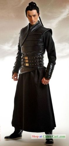Ancient Chinese Swordsman Costume Complete Set pinned with Pinvolve - pinvolve.co