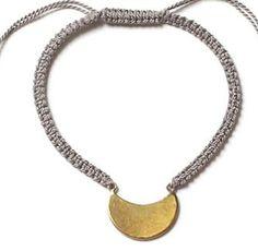 Winifred Grace Bronze Moon Macrame Bracelet - at pretty mommy