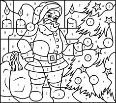 Online Coloring Pages Printable Coloring Pages Christmas Color By Number, Christmas Colors, Kids Christmas, Christmas Crafts, Christmas Presents, Online Coloring Pages, Coloring Book Pages, Printable Coloring Pages, Coloring Sheets