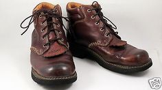 ARIAT-Canyon-Womens-Size-10-B-High-Top-Leather-Boots-Kiltie-Brown-Leather-17728