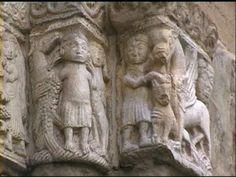 Capitelli del portale destro della Basilica di San Michele a Pavia