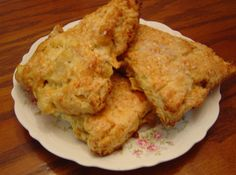 Apple Cheddar Scones-- these are best warm but can reheated in microwave. GREAT flavor! (TLJ)