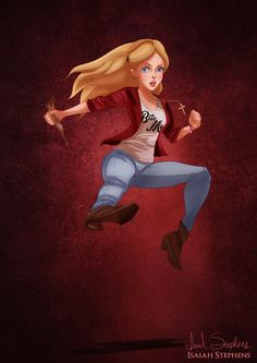 Alice as Buffy Summers.   9 Disney Non-Princesses Dressed As Pop Culture Icons