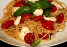 Linguini w/ Oven Dried Tomatoes & Roasted Garlic #DishonDinner via @@rosieschwartz