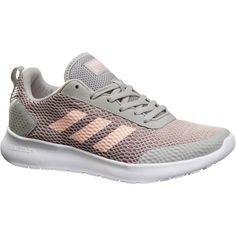 2be869b5a19 Chaussures marche sportive femme CF Element Race gris   rose ADIDAS