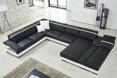 Modern Leather Sofa, Modern Couch, Europe Fashion, Sofa Design, News Design, Living Room, House, Couches, Furniture