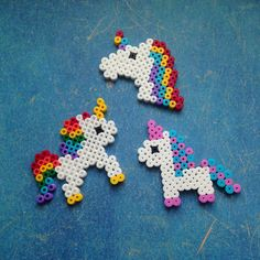 Unicorn decoration with Foam Clay & Hama beads- Einhorn-Deko basteln mit Foam Clay & Hama Bügelperl Perler Bead Templates, Diy Perler Beads, Perler Bead Art, Pearler Beads, Fuse Beads, Melty Bead Patterns, Pearler Bead Patterns, Perler Patterns, Beading Patterns