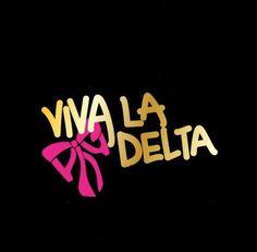 live it. love it viva la delta or for another sorority t-shirt Kappa Delta Chi, Delta Sorority, Tri Delta, Alpha Sigma Alpha, Sorority Life, Sorority Shirts, Sigma Kappa, Alpha Phi Crafts, Sorority Crafts