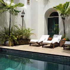 Pool at La Villa Bahia, Pelourinho, Salvador de Bahia 2009
