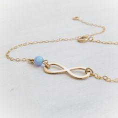Gold Anklet, Opal Anklet, Infinity Anklet, gold filled anklet, opal bracelet ,Gift for her,freindship bracelet,best friend,birthday gift