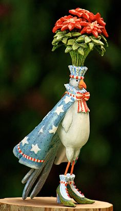 Krinkles Bird Ornaments by Patience Brewster at Fiddlesticks