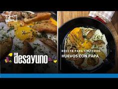 El Desayuno | Receta para solteros: huevos con papa - YouTube Chefs, Mashed Potatoes, Meat, Ethnic Recipes, Youtube, Food, Breakfast, Single Men, Eggs