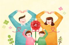 PAI125, 프리진, 일러스트, 가정의달, 에프지아이, 사람, 캐릭터, 가정, 가족, 패밀리, 행복, 사랑, 생활, 라이프, 5월, 남자, 여자, 봄, 꽃, 식물, 4인, 엄마, 아빠, 어린이, 어버이날, 카네이션, 하트, 소년, 소녀, 손짓, 손동작, 핸드모션, 일러스트, illust, illustration #유토이미지 #프리진 #utoimage #freegine 19926462
