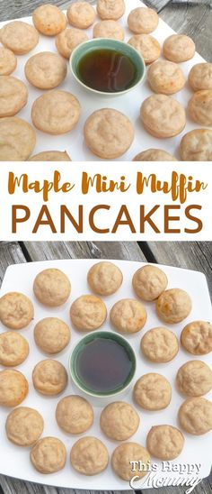 Maple Mini Muffin Pancakes - This Happy Mommy