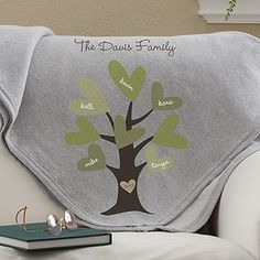 Leaves of Love Personalized Sweatshirt Blanket