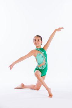 Girls Lyrical Ballet Dance Dress Floral Sequins Leotard Tank Skirt Dancewear 2Pc