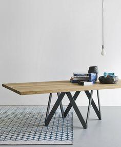 Rectangular wood veneer table CARTESIO by Calligaris | #design Busetti Garuti Redaelli @calligaris1923
