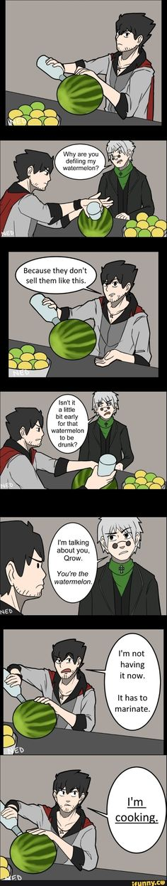 Qrow in the kitchen