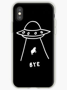 drawing alien case abduction simple iphone bye phone cases easy drawings redbubble ufo homework finding