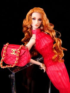 My own Amy Barbie doll! And she's wearing Chanel!!! I loved Barbie so much that it was a dream to have one made of me. Lol!