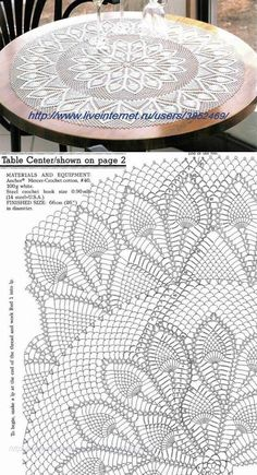 crochet doilies Rosenir's 079 Media Content And Analyti - Diy Crafts - maallure Crochet Tablecloth Pattern, Free Crochet Doily Patterns, Crochet Doily Diagram, Crochet Motif, Crochet Designs, Knitting Patterns, Filet Crochet, Crochet Round, Thread Crochet