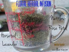 Floral Herbal Tea Rinse for Hair Growth | Recipe | Natural Hair | www.lillian-mae.com