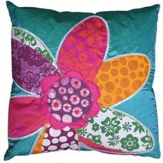 KOKO company Patchwork - Pillow by Couture Déco Custom Pillows, Decorative Pillows, Pillow Inspiration, Pillow Ideas, Cushions To Make, Pillow Room, Pillow Talk, Patchwork Pillow, Flower Pillow