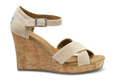 Natural Burlap Sierra Women's Strappy Wedges, absolutely in love with these but not loving the price...