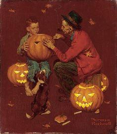 Halloween Norman Rockwell (1894-1978 American)  - stock photo