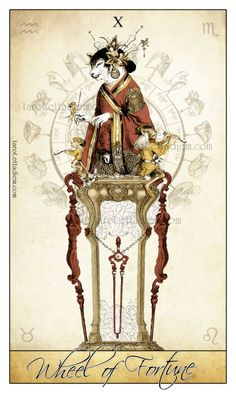 This archetype allows your life to turn in more positive directions if you are willing to grow and expand. This is also a 'lucky' time in life when you are sensing the action of fate and destiny working in your favour. You may even be witnessing miracles or a very fortunate series of events.{The Wheel of Fortune - The Isadore Tarot deck.}